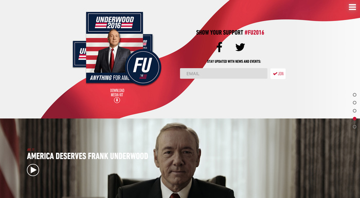 House of Cards: Frank Underwood presidential campaign, 2016 4