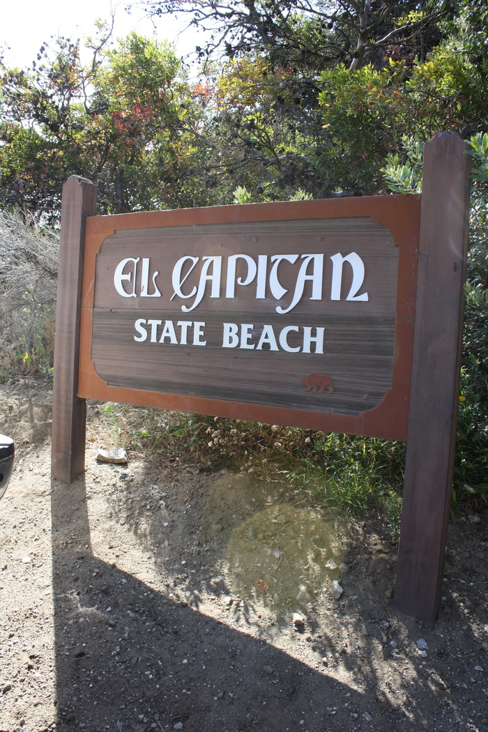 El Capitán California State Beach sign 2