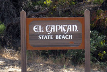El Capitán California State Beach sign