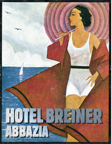 Hotel Breiner luggage label