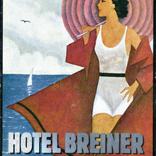 Hotel Breiner luggage label