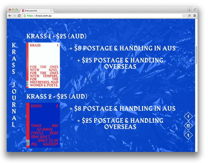Krass Journal website 2