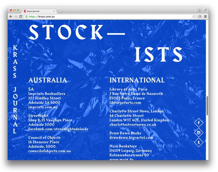 Krass Journal website (2014) 3