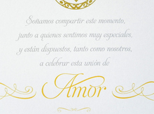 Mariel & Pablo wedding invitations