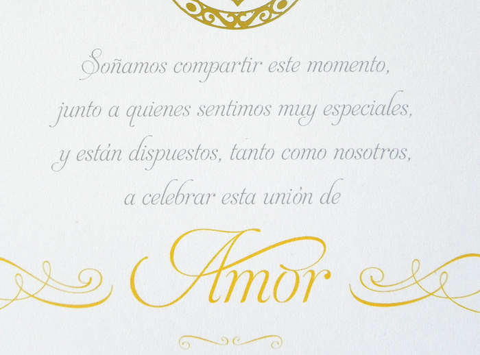 Mariel & Pablo wedding invitations 2