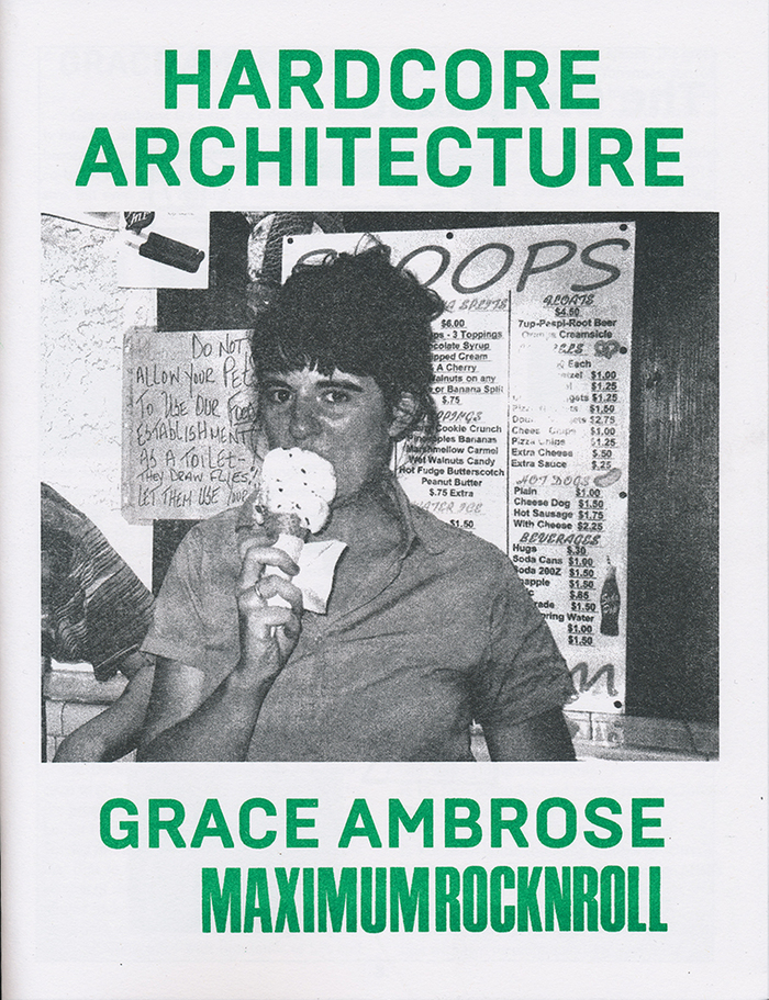 Hardcore Architecture: Grace Ambrose / Maximum RocknRoll 1