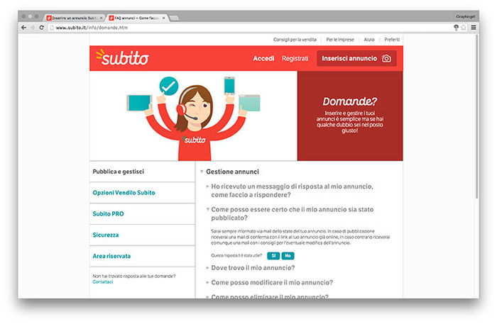 Subito website 1