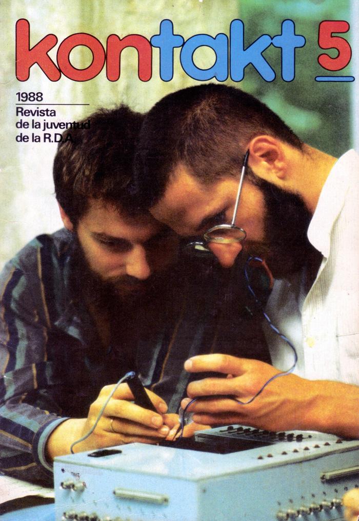 Spanish edition of Kontakt magazine, 1988  Revista de la juventud de la R.D.A. (Youth magazine from the GDR)  Photographer: Wolfgan Türk