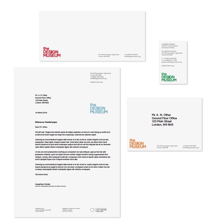 Design Museum identity (2003, 2016) 2
