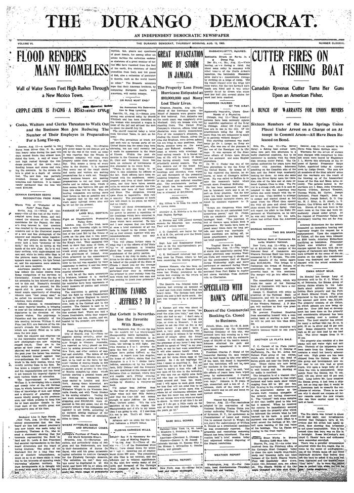 The Durango Democrat, 1903 2