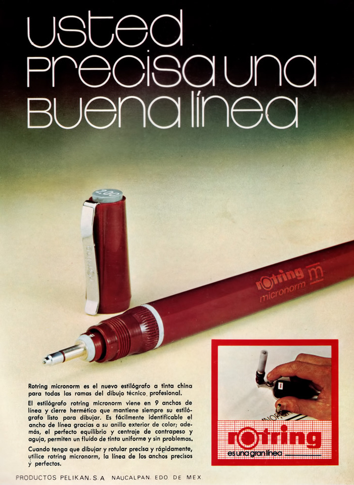 """Usted precisa una buena línea"" (""You need a good line""). Geomundo magazine, 1977."