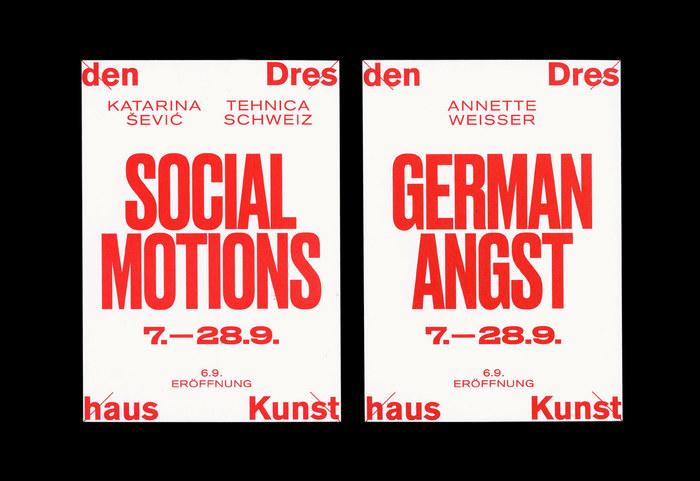 Kunsthaus Dresden: Social Motions / Demotape / German Angst 2