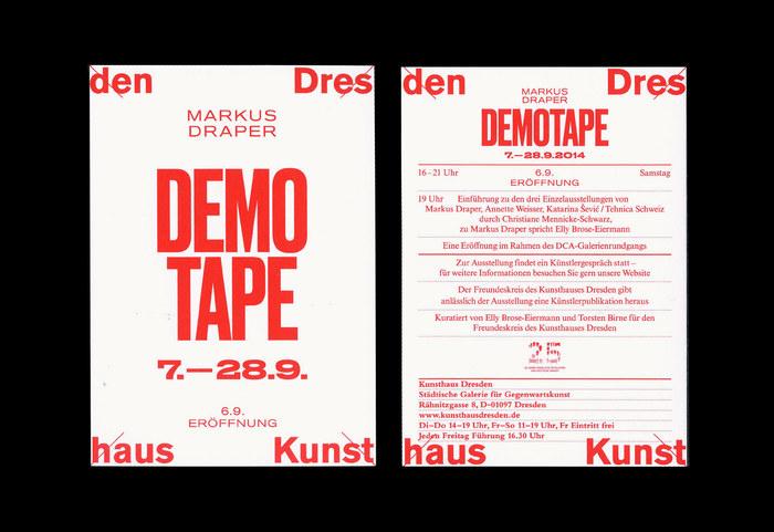 Kunsthaus Dresden: Social Motions / Demotape / German Angst 4