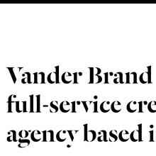 Vander Brand website