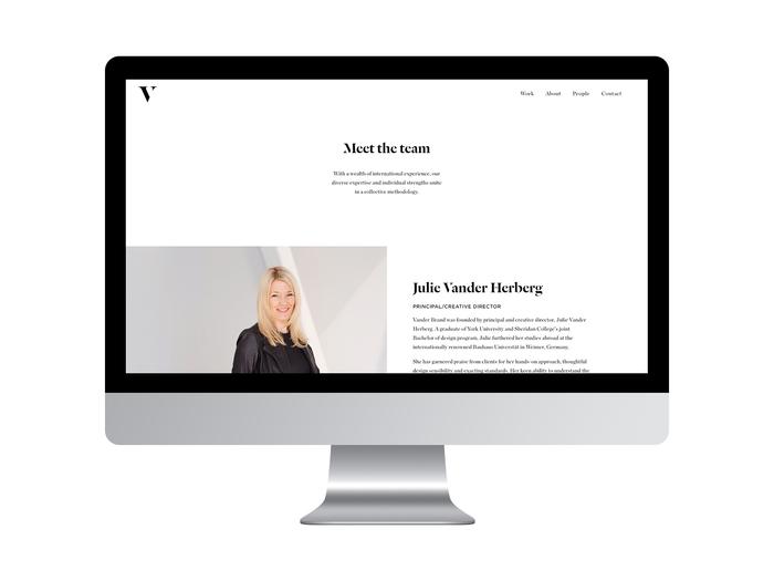 Vander Brand website 2