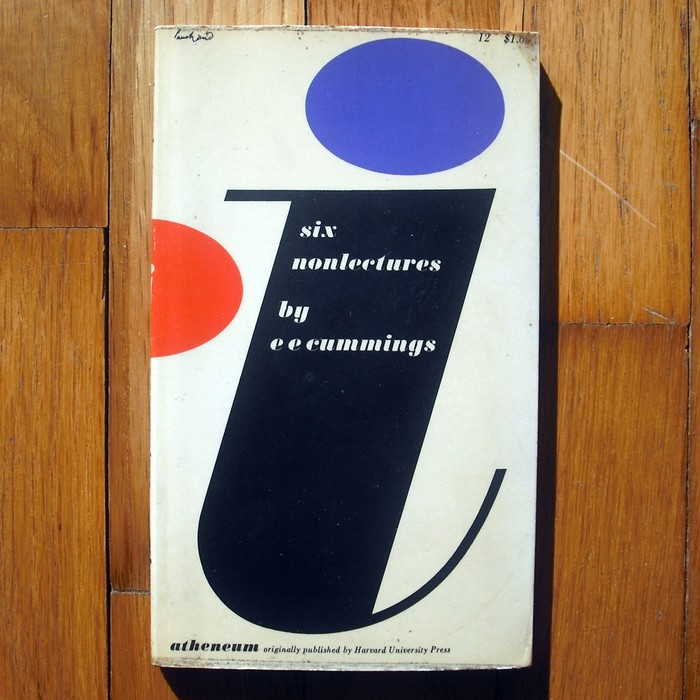Book cover for i: six non lectures by e e cummings 1