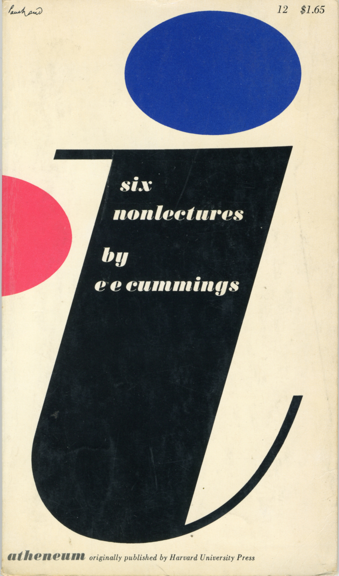 Book cover for i: six non lectures by e e cummings 2