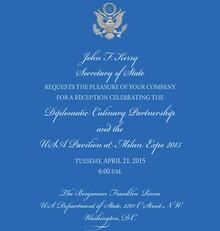 US Secretary of State Diplomatic Invitation