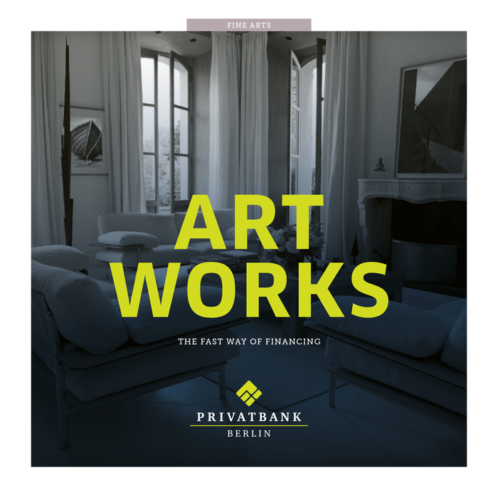 """Art Works"" ad, Privatbank Berlin 2"
