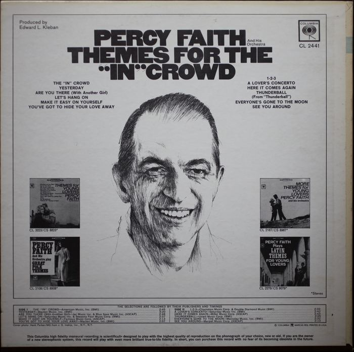 "Themes for the ""In"" Crowd by Percy Faith 2"