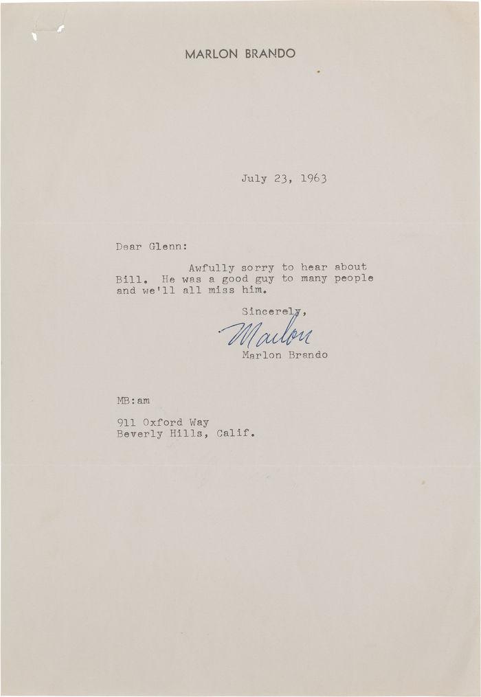 Marlon Brando letterhead 2