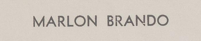 Marlon Brando letterhead 1