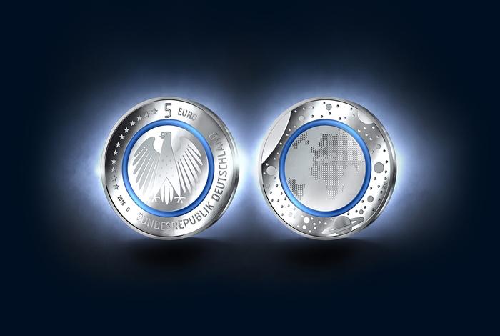 German 5-euro coin, 2016 1