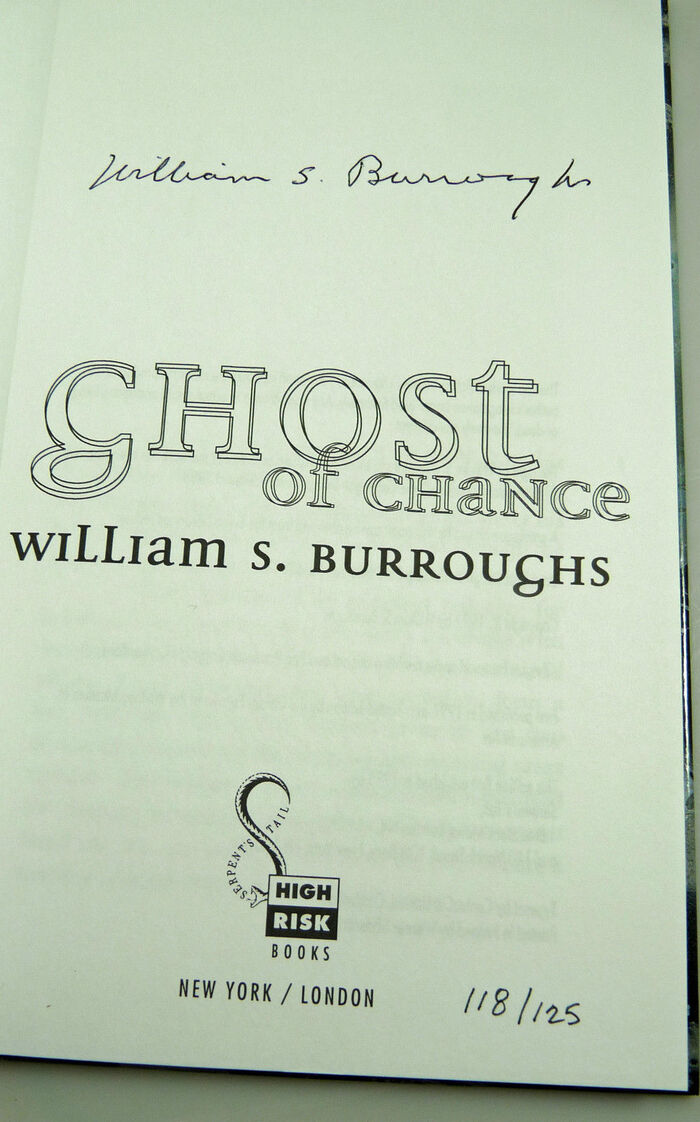 Ghost of Chance by William S. Burroughs, High Risk Books edition 3