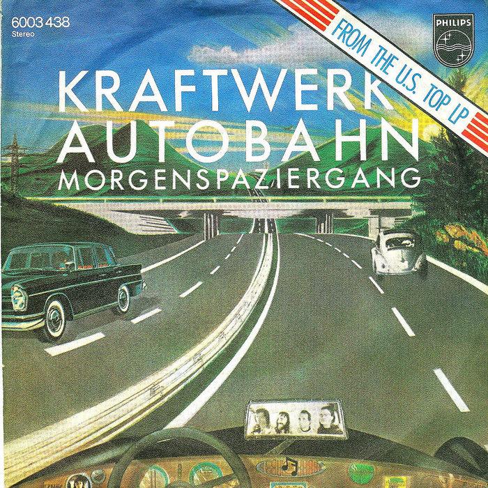 """Kraftwerk – """"Autobahn"""" / """"Morgenspaziergang"""" German single sleeve 1"""