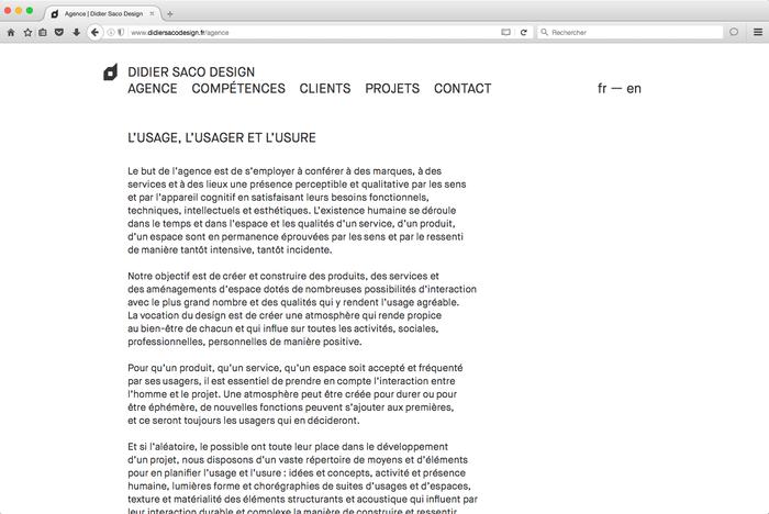 Didier Saco Design website 1