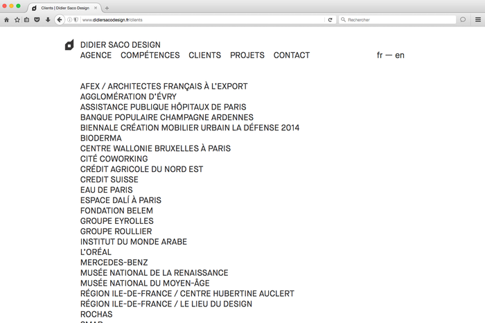 Didier Saco Design website 2