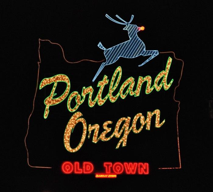 """Portland Oregon: Old Town"" sign 2"