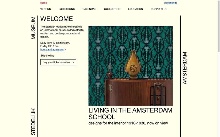 Current website.