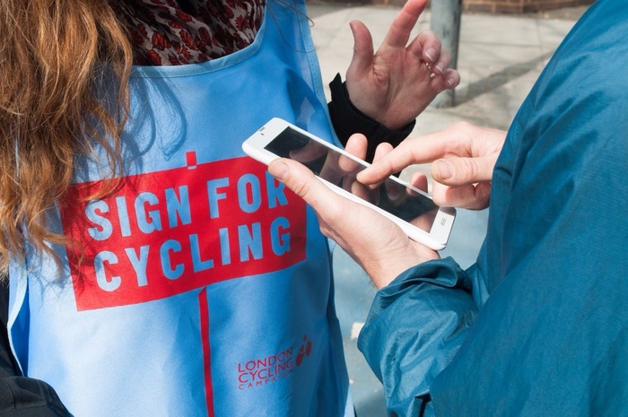 Sign for Cycling campaign 9