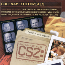 """CS2:"" ad, Photoshop World Vegas 2006"