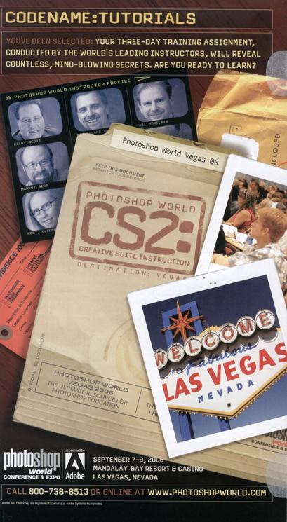 """CS2:"" ad, Photoshop World Vegas 2006"