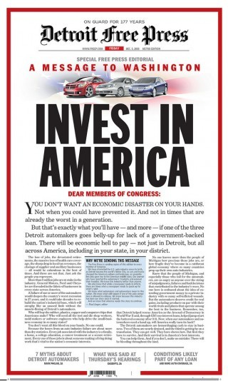 "Detroit Free Press: ""Invest in America"""