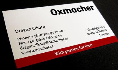 Oxmacher business card