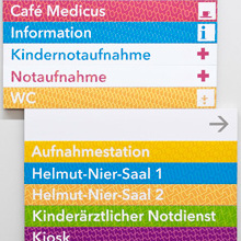 Offenbach Hospital sign system