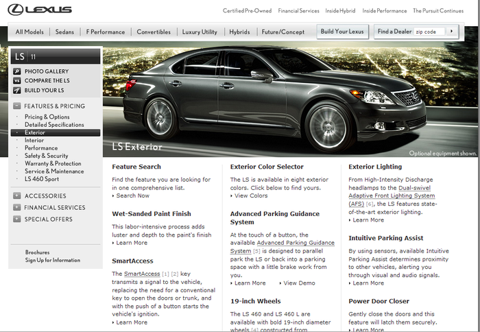 Lexus.com 3