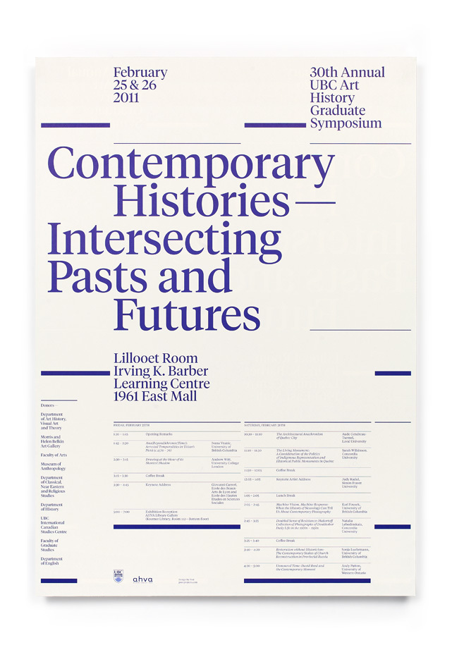 UBC Art History Graduate Symposium 2