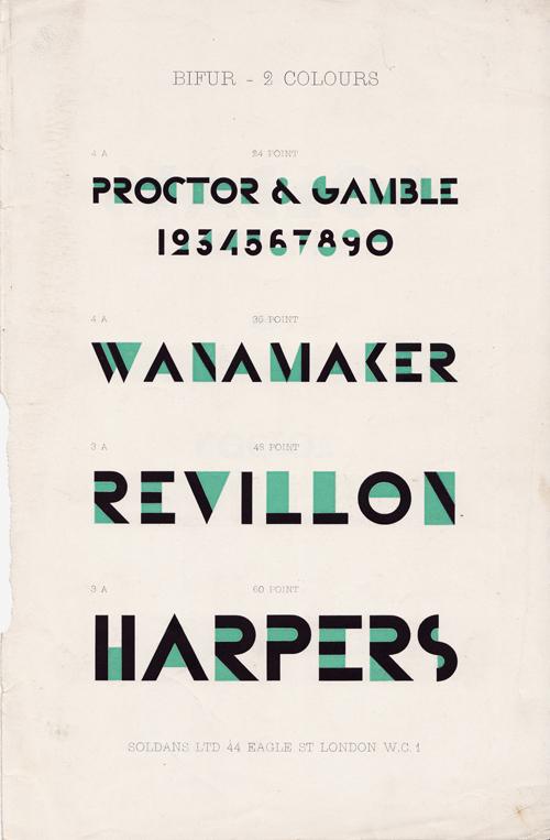Bifur Typeface Specimen 2