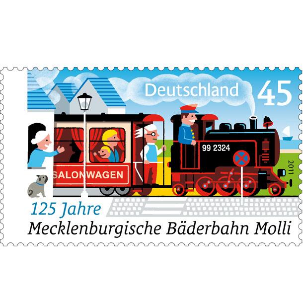 125 Jahre Mecklenburgische Bäderbahn Molli 1