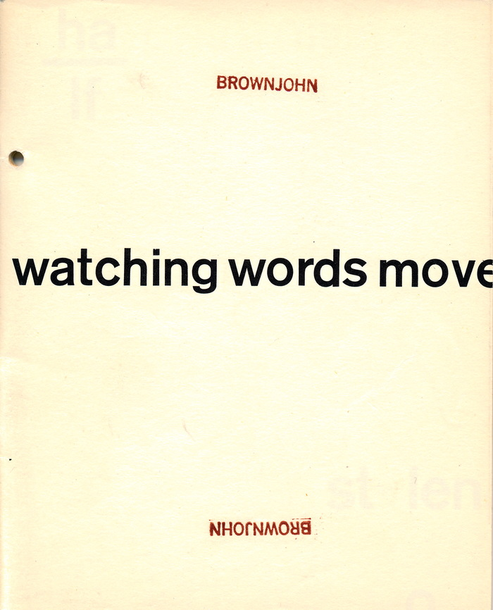 Watching Words Move 1