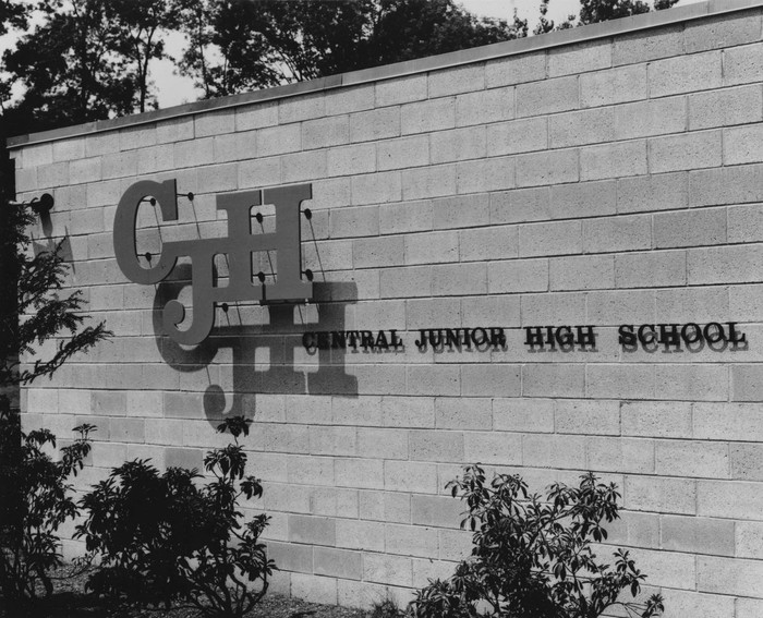 Central Junior High School logo and signs 1