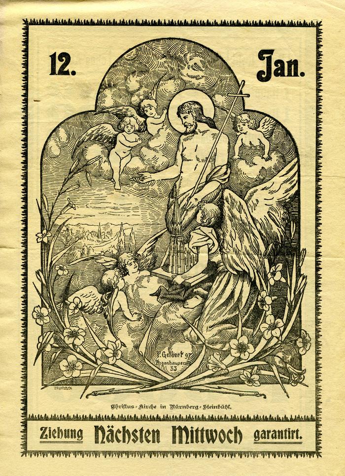 Christus-Kirche lottery ad