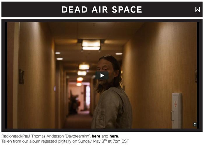 Dead Air Space (Radiohead.com)