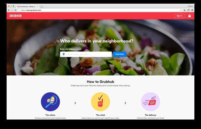 Grubhub website 1