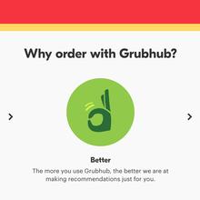 Grubhub website