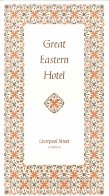 British Transport Hotels menu cards